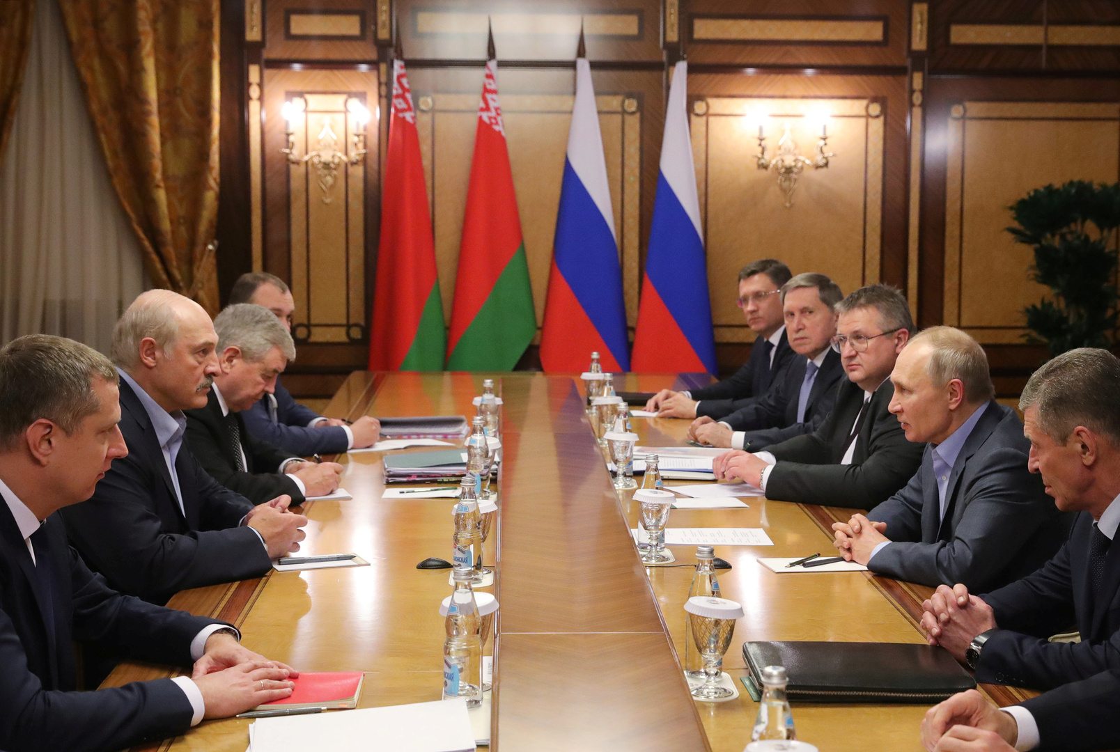 الرئيس الروسي بوتين يلتقي الرئيس البيلاروسي لوكاشينكو في سوتشي
