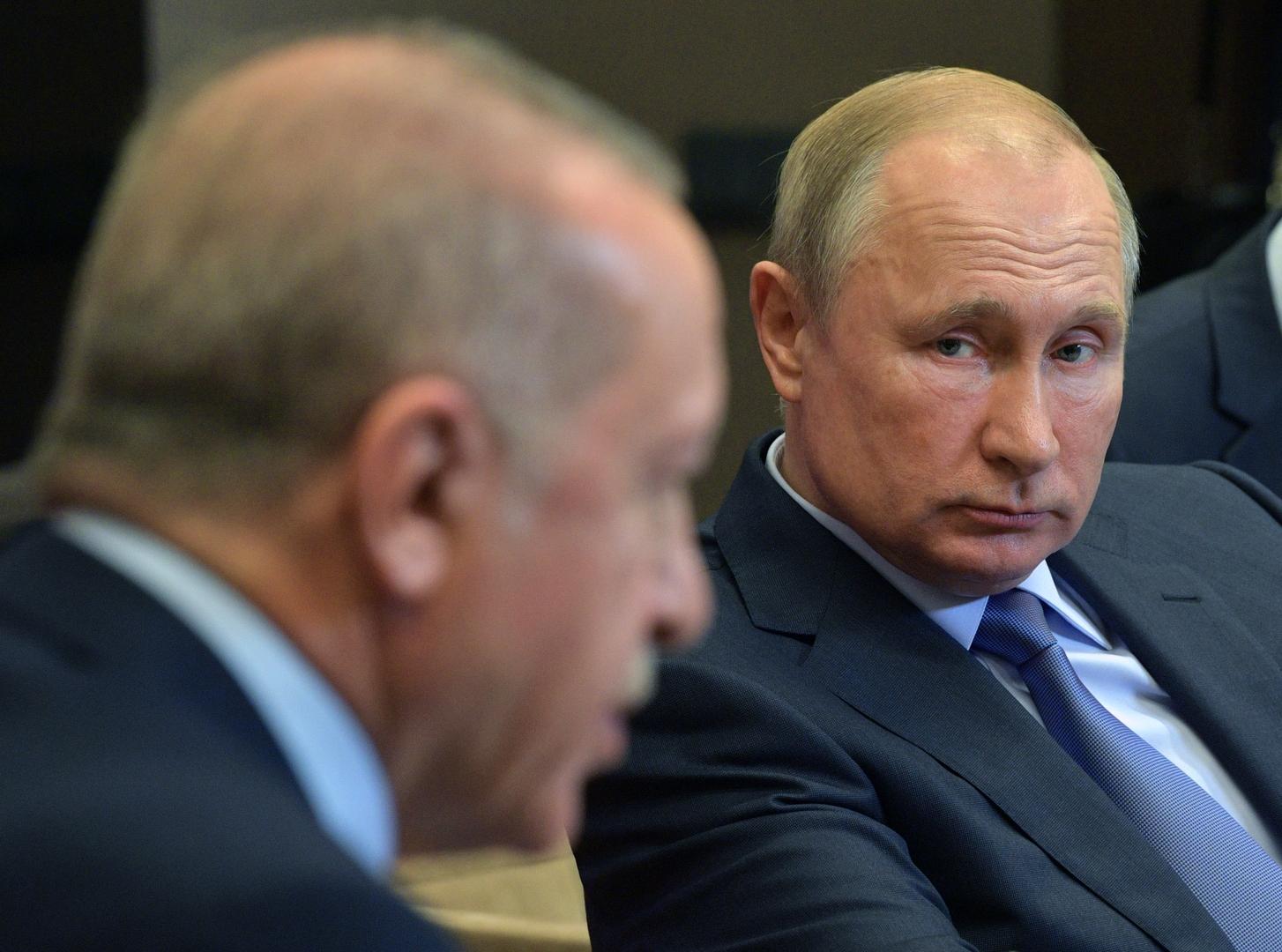 أردوغان يتصل ببوتين من أجل بحث الوضع في إدلب