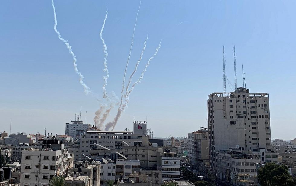 إطلاق صواريخ من قطاع غزة -أرشيف-