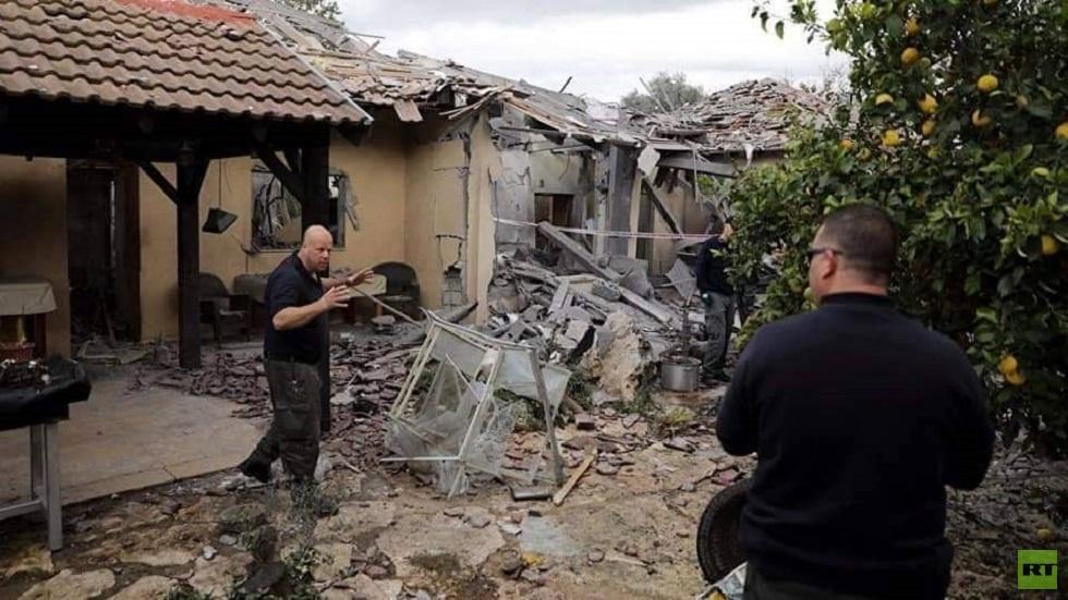 صواريخ غزة تلحق أضرارا مادية بالمستوطنات المحيطة بالقطاع