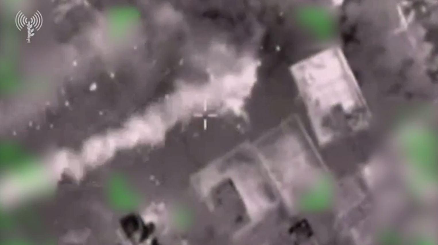 الجيش الإسرائيلي ينشر فيديو يوثق استهداف مواقع