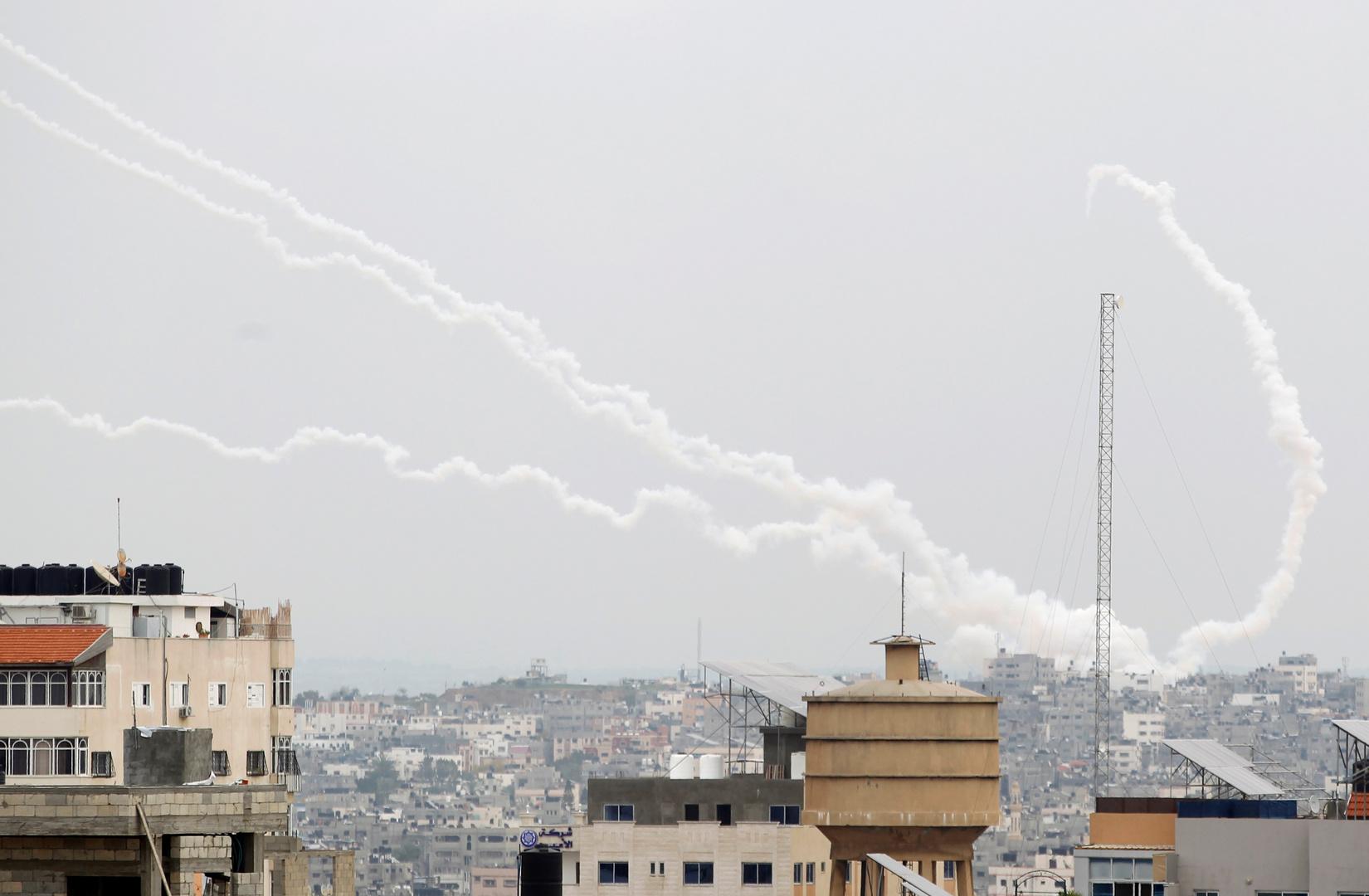 إطلاق صواريخ من قطاع غزة باتجاه إسرائيل