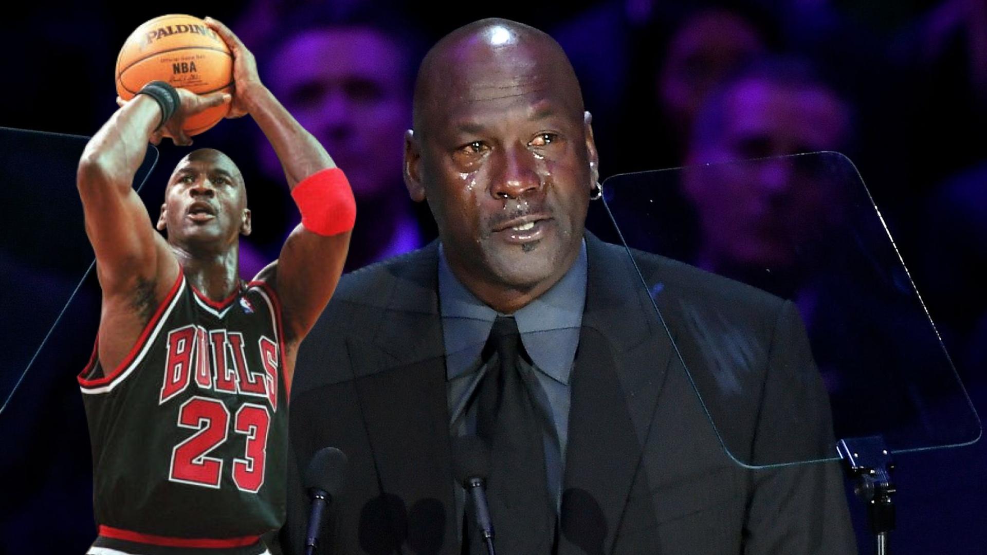 بالفيديو.. أسطورة كرة السلة مايكل جوردان يجهش بالبكاء في تأبين براينت