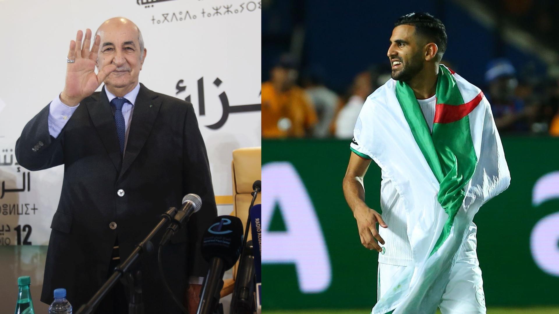 الرئيس الجزائري يشعل المواقع بتغريدة عن محرز