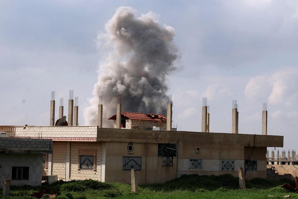 آثار انفجار في مدينة درعا السورية -أرشيف-
