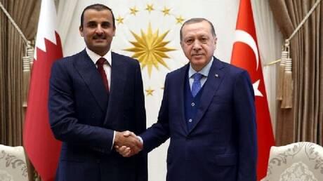 الرئيس التركي وأمير قطر يبحثان الملفين الليبي والسوري