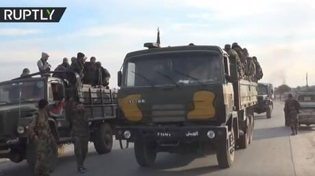 تعزيزات عسكرية سورية تتجه نحو إدلب