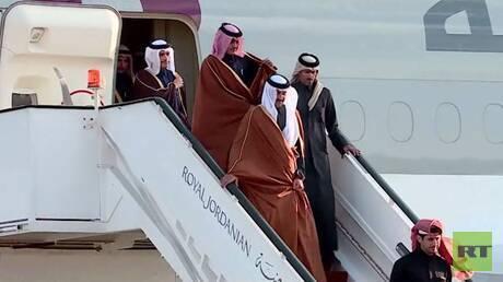 أمير قطر يلتقي العاهل الأردني في عمّان