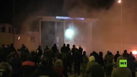احتجاجات في ليسبوس اليونانية ضد بناء مخيم جديد للاجئين
