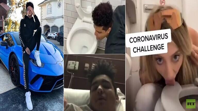 """فيديو: بعد أيام من تحديه """"كورونا"""" ولعق المرحاض.. شاب يؤكد إصابته بالفيروس القاتل!"""