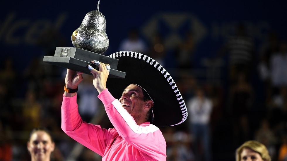 نادال يرتدي قبعة البطولة المكسيكية للمرة الثالثة في تاريخه (فيديو)