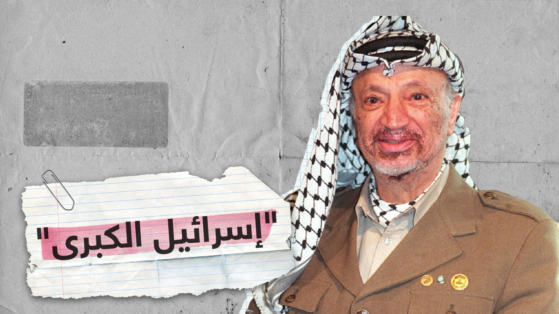 عرفات يحذر من إسرائيل الكبرى!