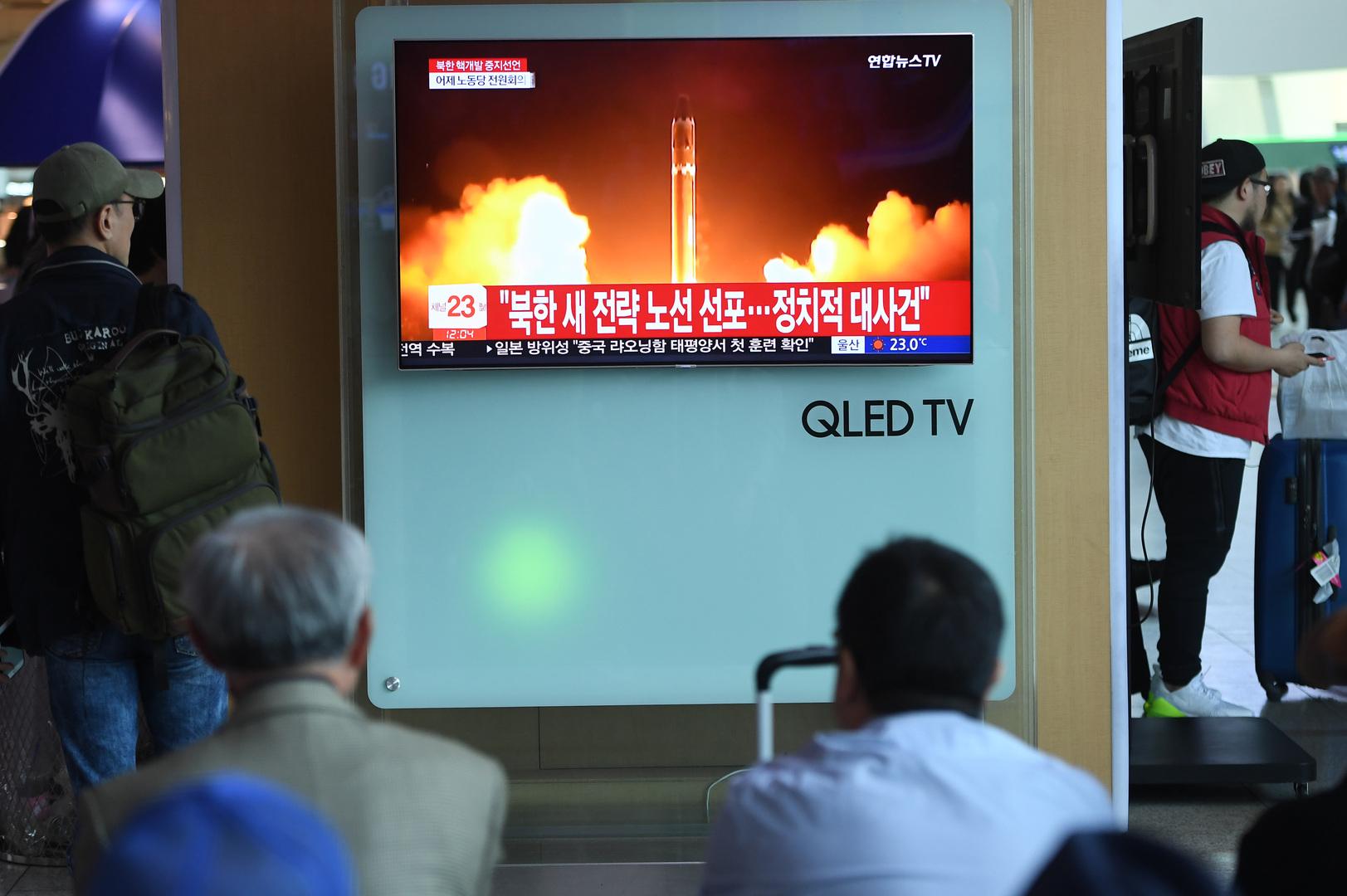 كوريا الشمالية تطلق صاروخين مجهولين من ساحلها الشرقي!