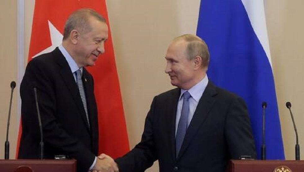 أرشيفية للقاء بوتين وأردوغان