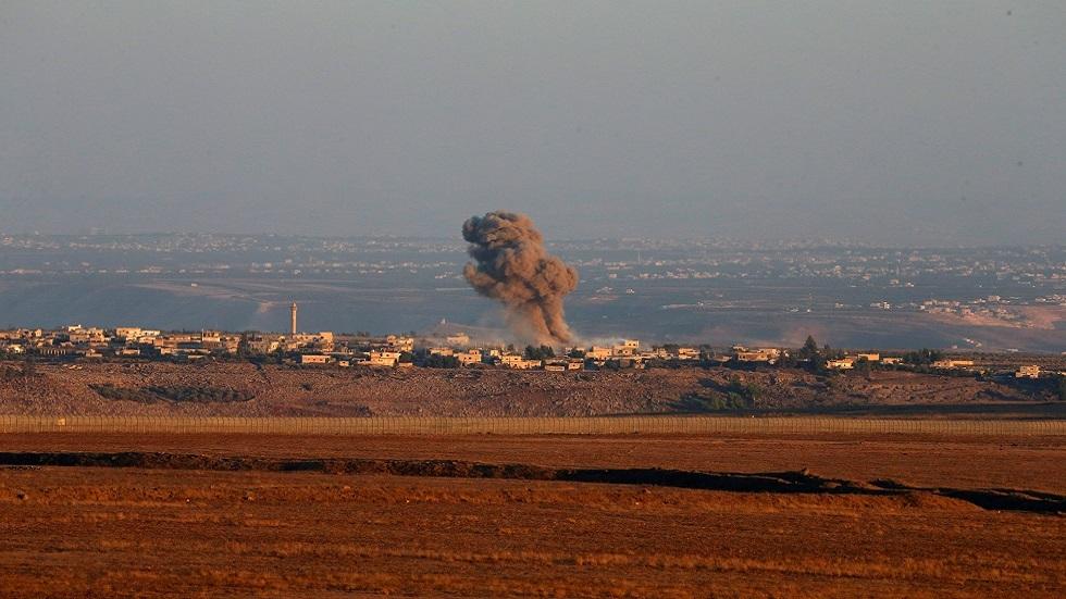 انفجار في الجانب الخاضع لسيطرة الحكومة السورية من الجولان (صورة أرشيفية)