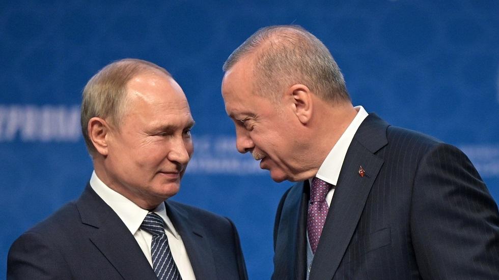 الرئيسان التركي/ رجب طيب أردوغان والروسي/ فلاديمير بوتين