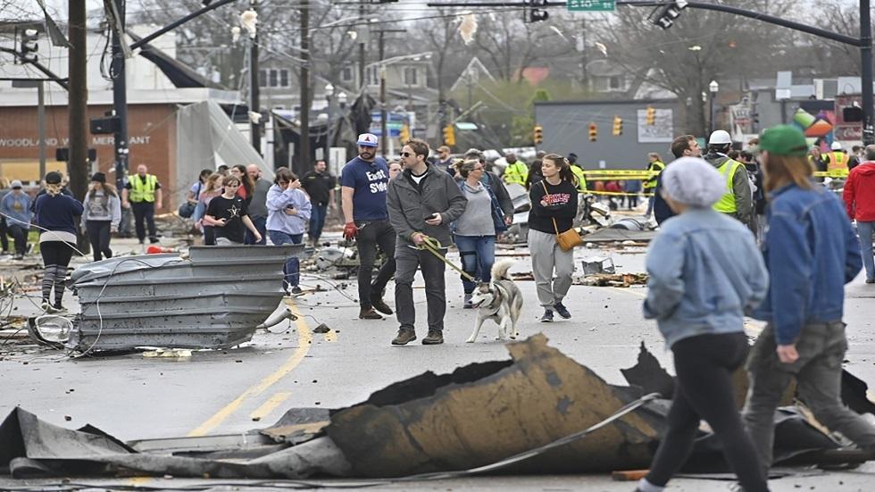مدينة ناشفيل في الولايات المتحدة عقب الإعصار