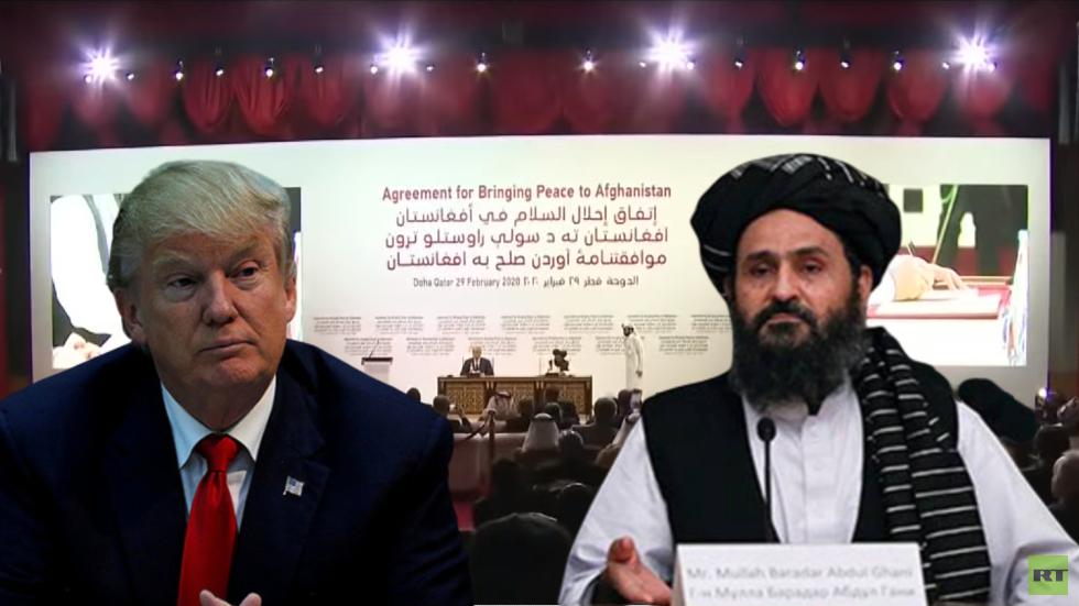 كبير مفاوضي طالبان يتحدث هاتفيا مع الرئيس الأمريكي ترامب