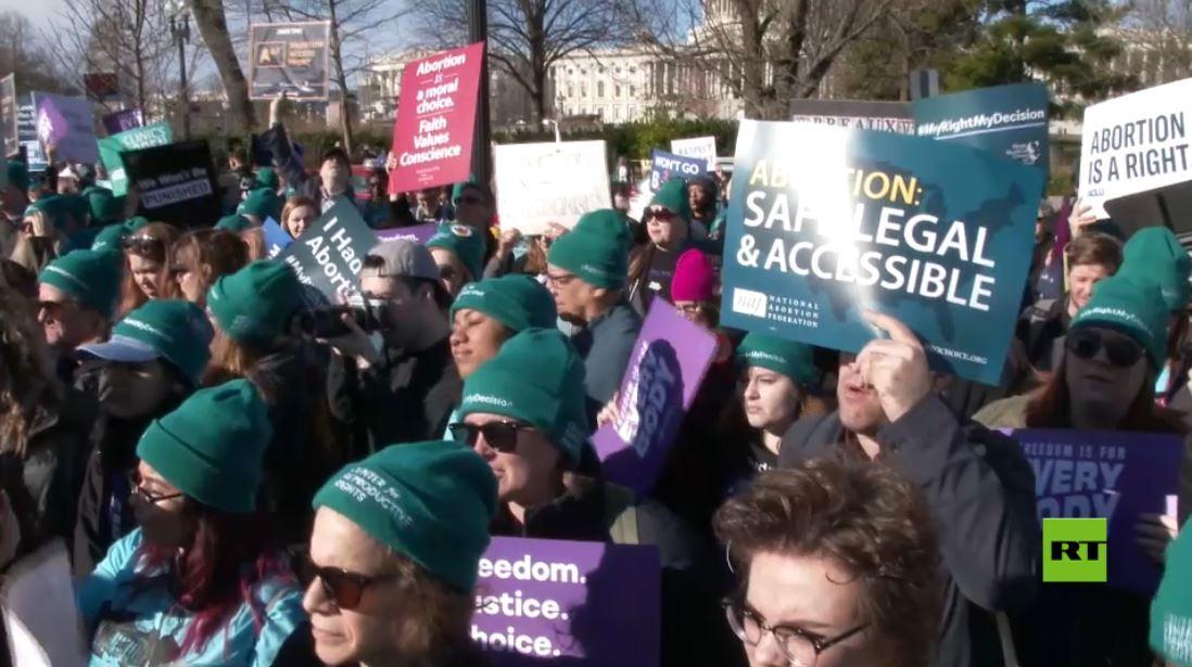 مؤيدو الإجهاض يتظاهرون ضد القيود المحتملة في لويزيانا