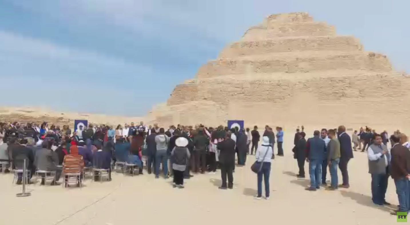 افتتاح أول بناء حجري في العالم بمصر بعد 14 عاما من ترميمه