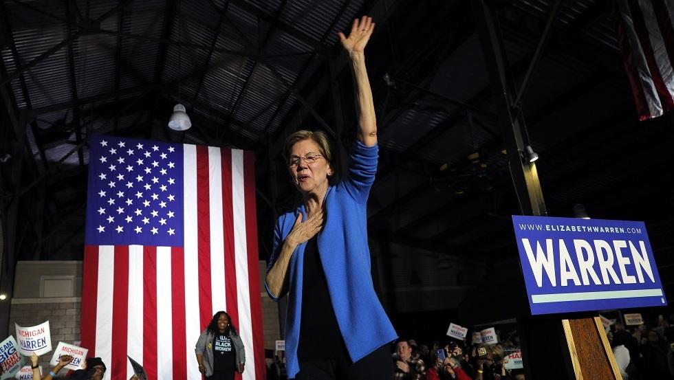 الانتخابات الأمريكية.. الديمقراطية وارن تنسحب من السباق
