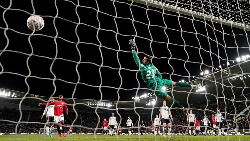 مانشستر يونايتد يكتسح ديربي كاونتي في كأس الاتحاد الإنجليزي (فيديو)