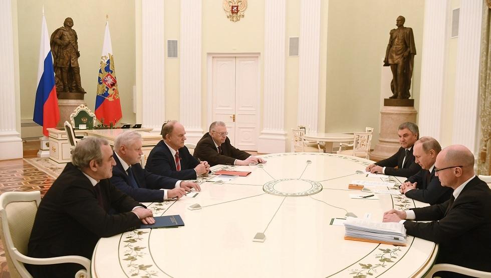 بوتين يدعو رؤساء الكتل النيابية لتأييد التعديلات الدستورية