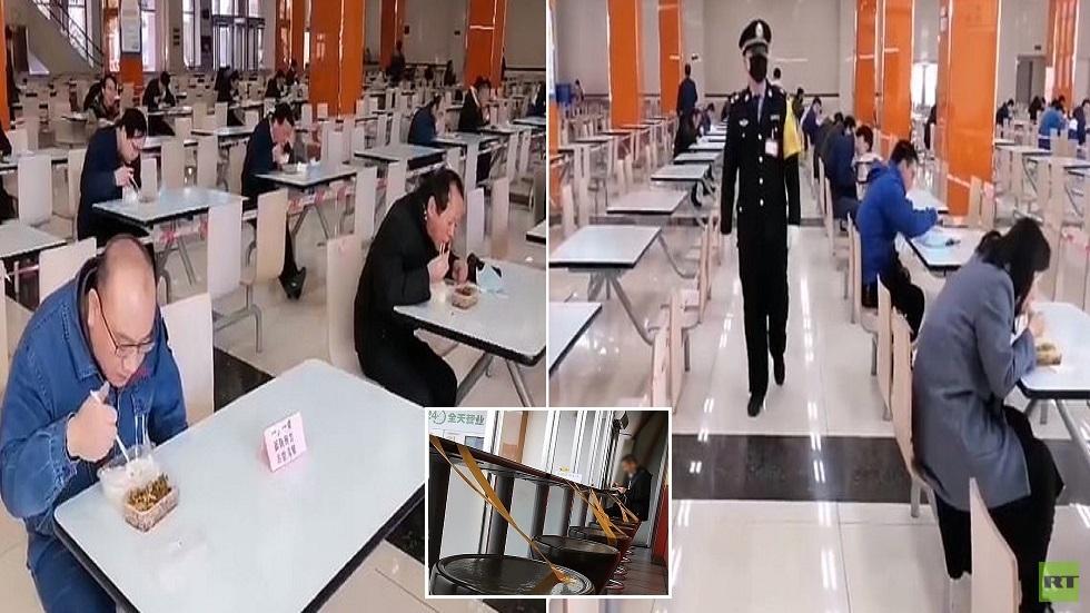 فيديو.. مطاعم الصين تتخذ إجراءات غريبة لمحاربة