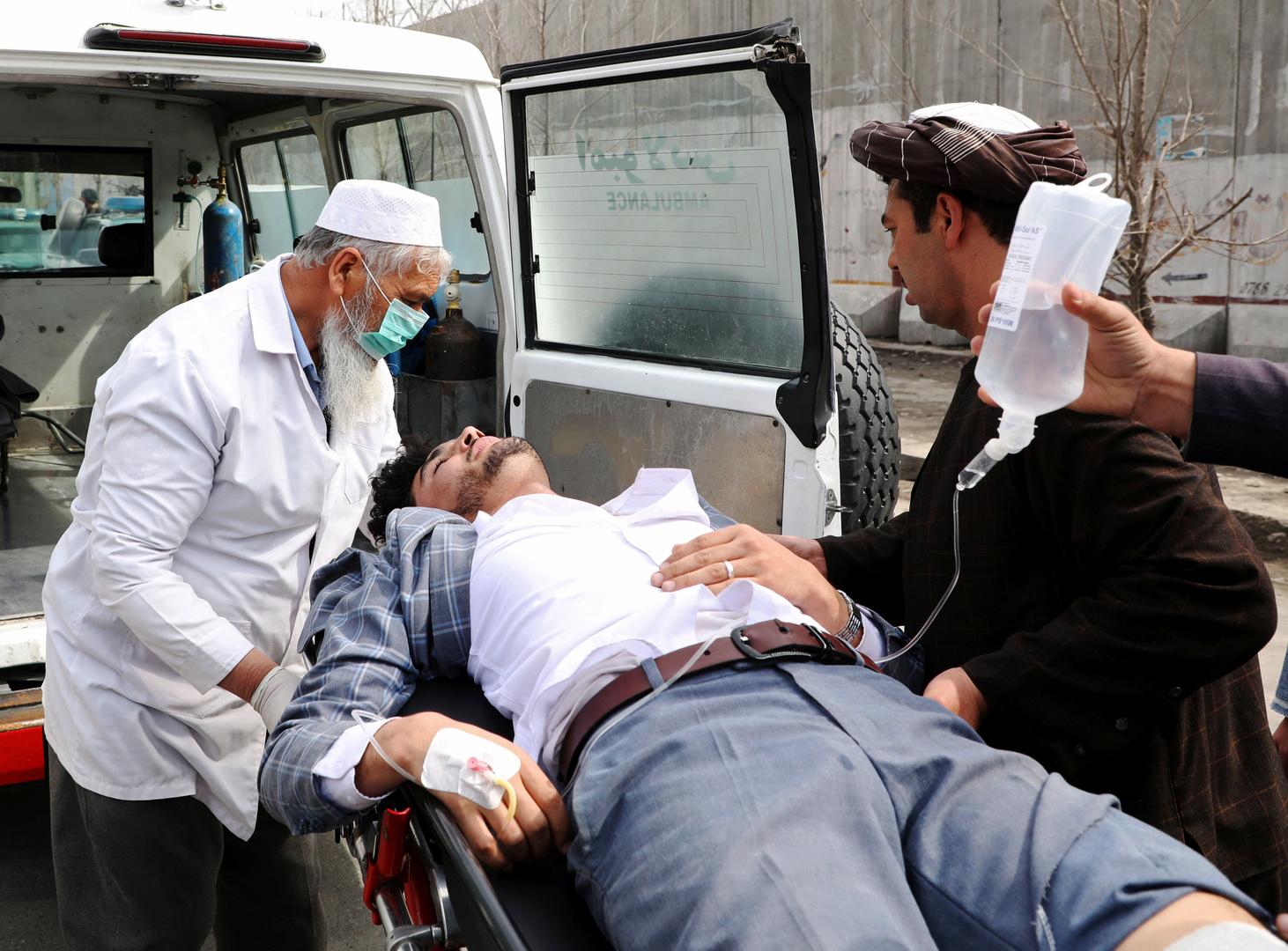 أحد المضابين جراء الهجوم في كابل