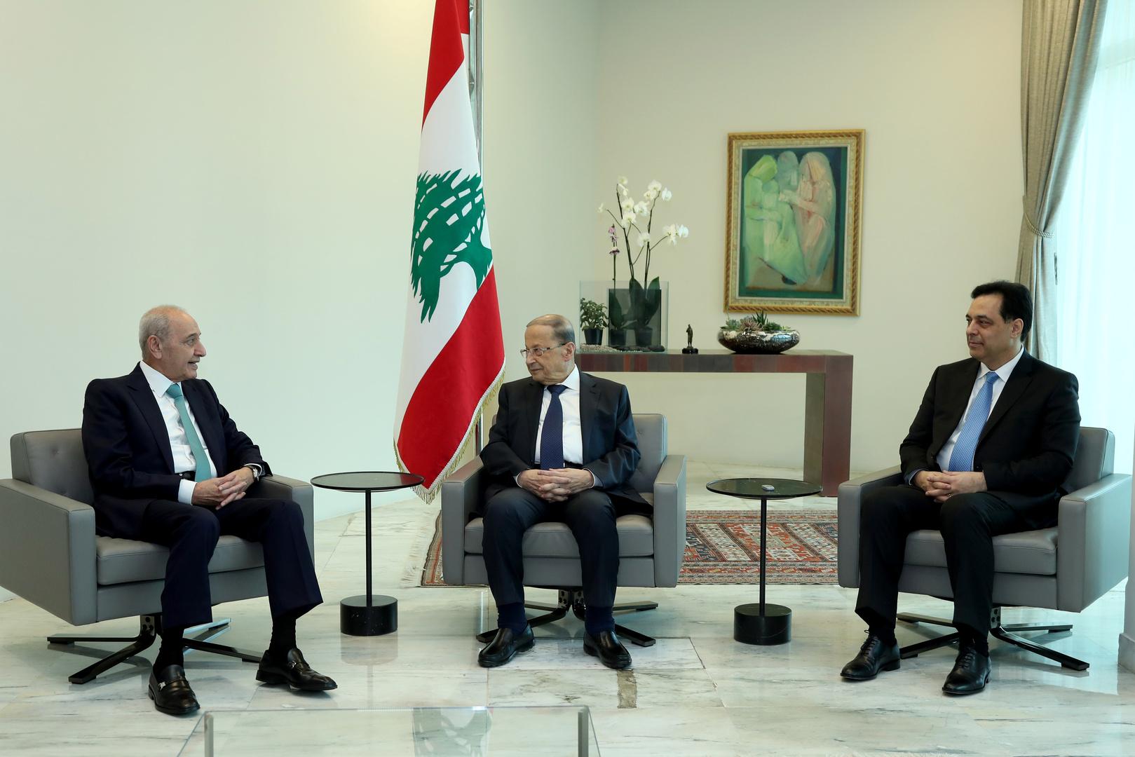 اجتماع عون وبري ودياب في القصر الجمهوري