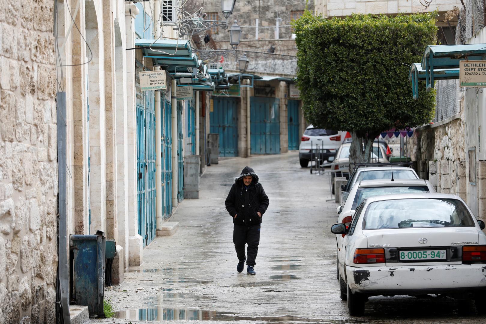 مدينة بيت لحم بعد اتخاذ إجراءات وقائية لردع انتشار فيروس كورونا
