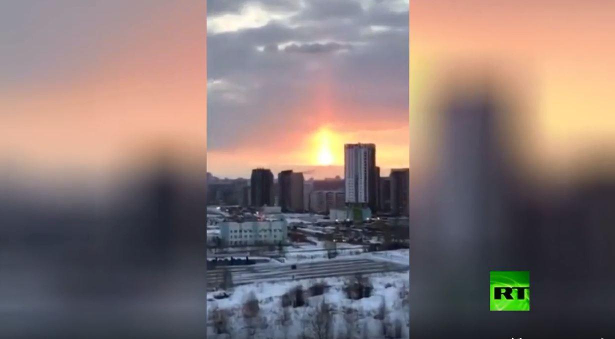 ظاهرة غريبة في سماء تشيليابينسك الروسية
