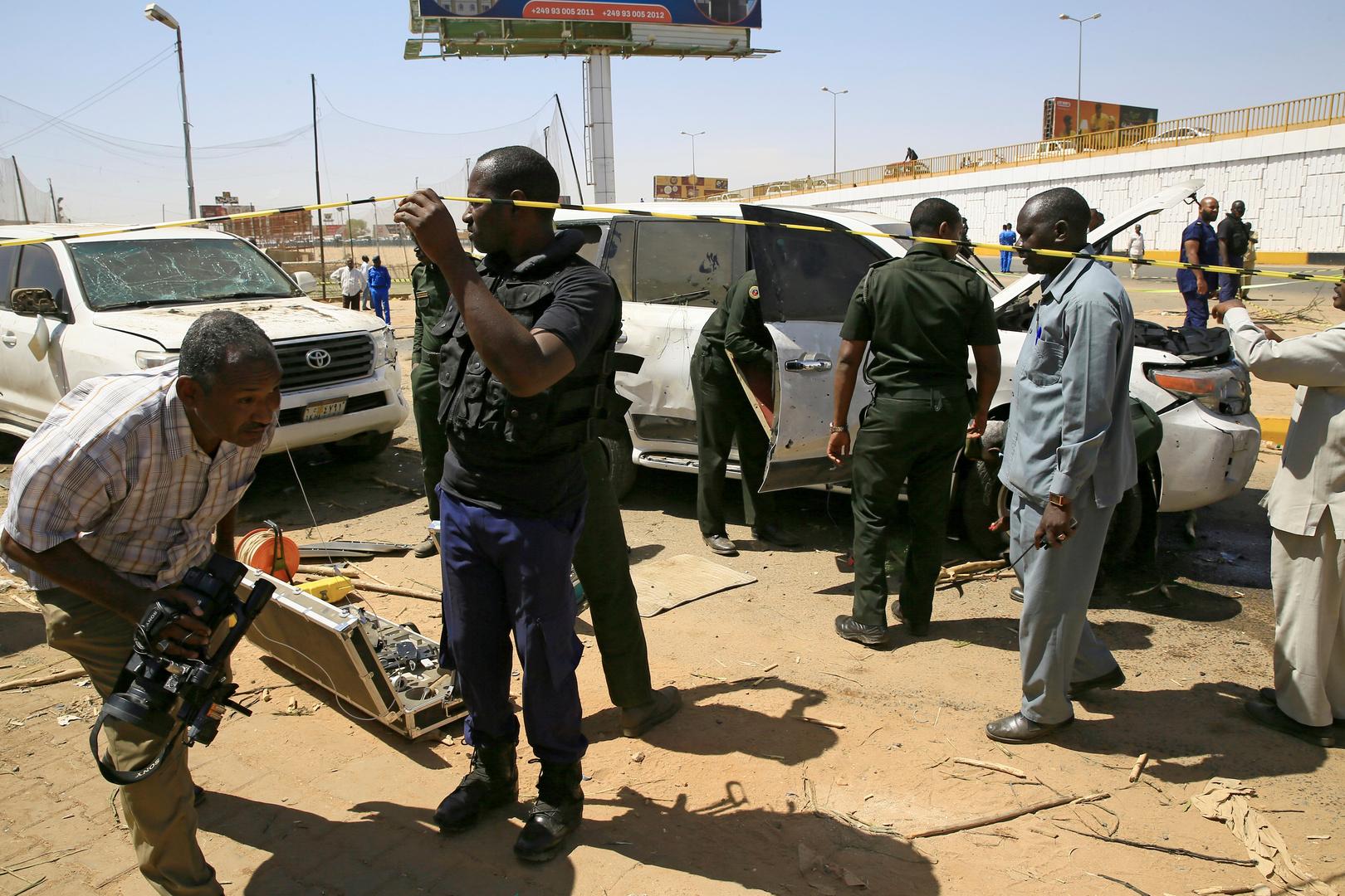 موقع استهداف موكب رئيس الوزراء السوداني، عبد الله حمدوك، في الخرطوم