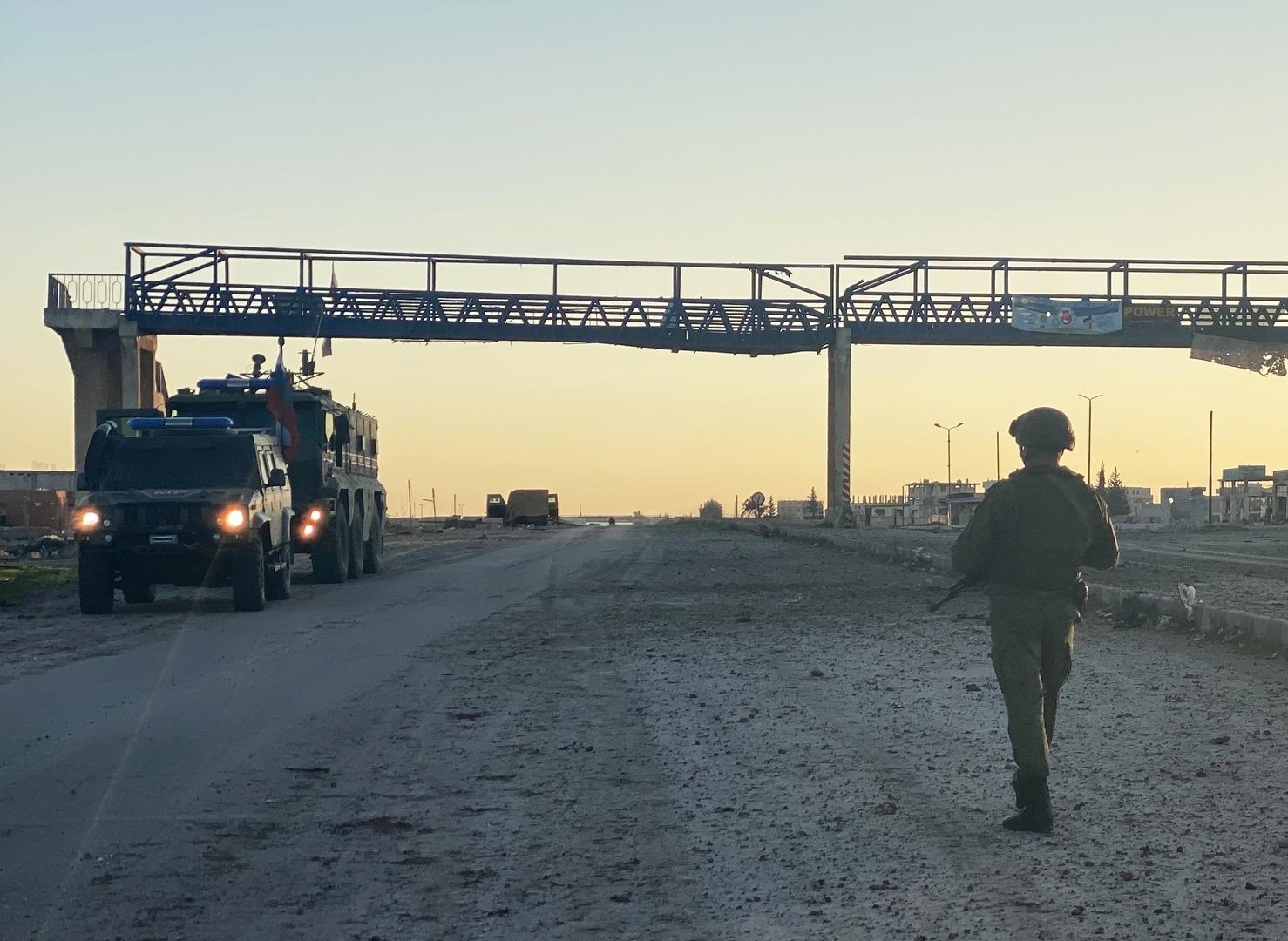دورية للشرطة العسكرية الروسية في ريف إدلب