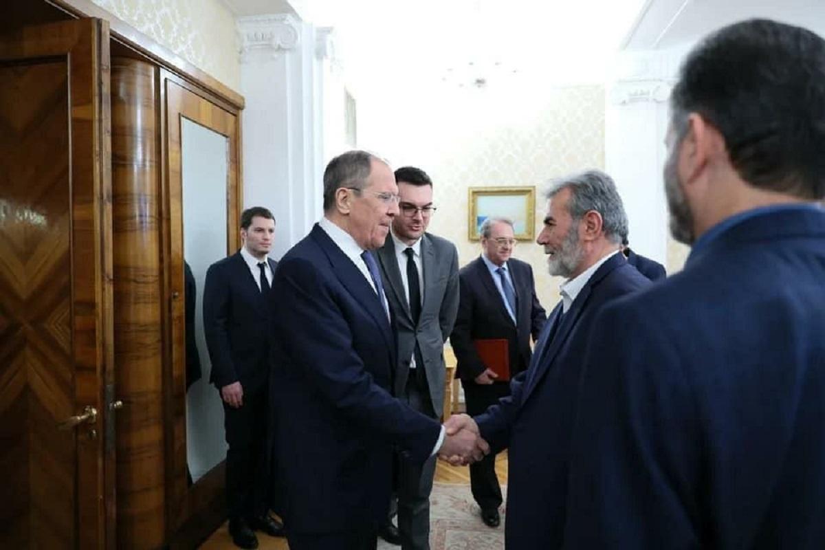 لقاء وزير الخارجية الروسي، سيرغي لافروف، مع الأمين العام لحركة