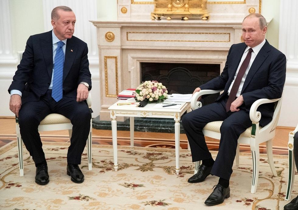 الكرملين: بوتين وأردوغان بحثا تنفيذ اتفاقات قمتهما في موسكو