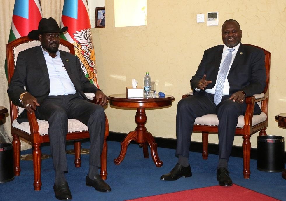 رئيس جنوب السودان سالفا كير ونائبه رياك مشار