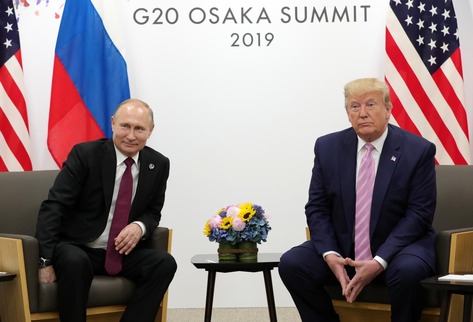 الرئيس الأمريكي، دونالد ترامب، ونظيره الروسي، فلاديمير بوتين