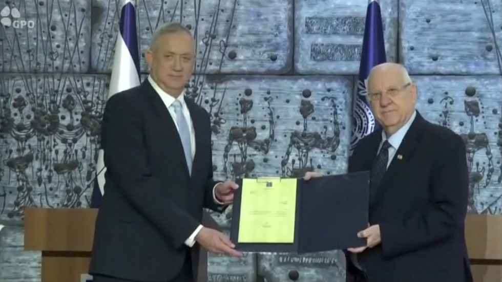 غانتس يتعهد بتشكيل حكومة إسرائيلية موسعة