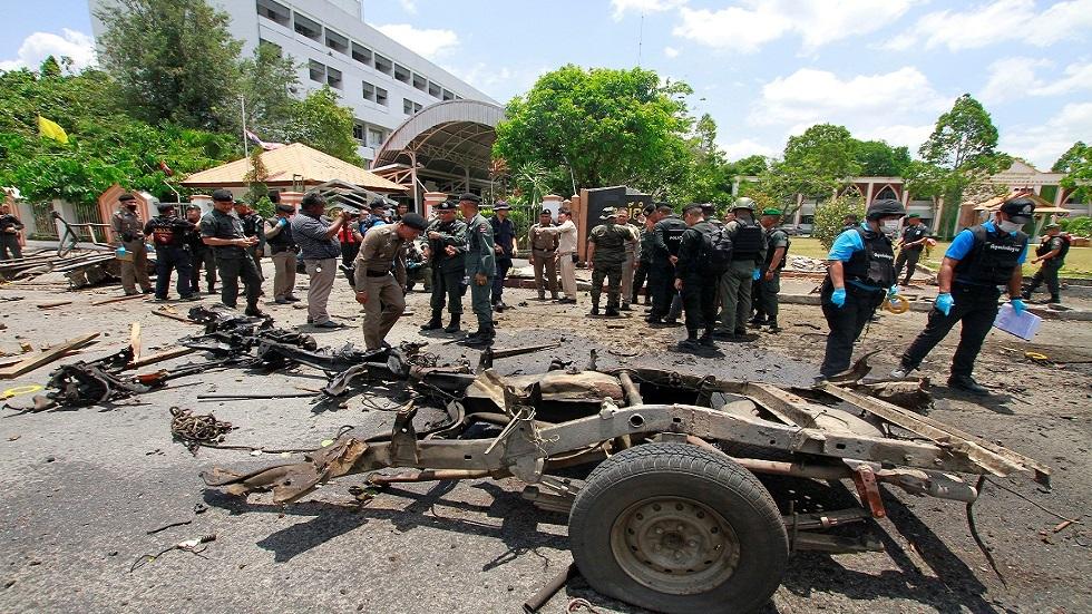 إصابة 18 شخصا بتفجيرين في تايلاند
