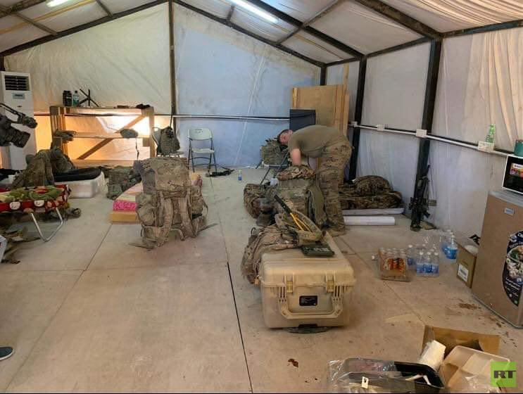 بالصور.. التحالف الدولي ينسحب من قاعدة القائم العراقية
