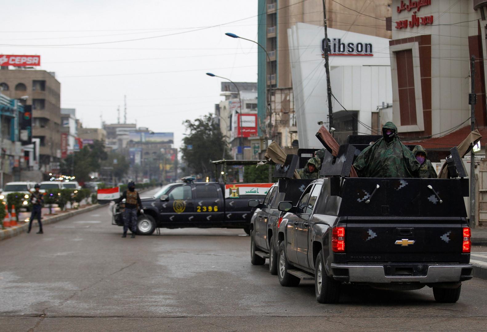 وحدات من قوات الأمن العراقية في شوارع بغداد