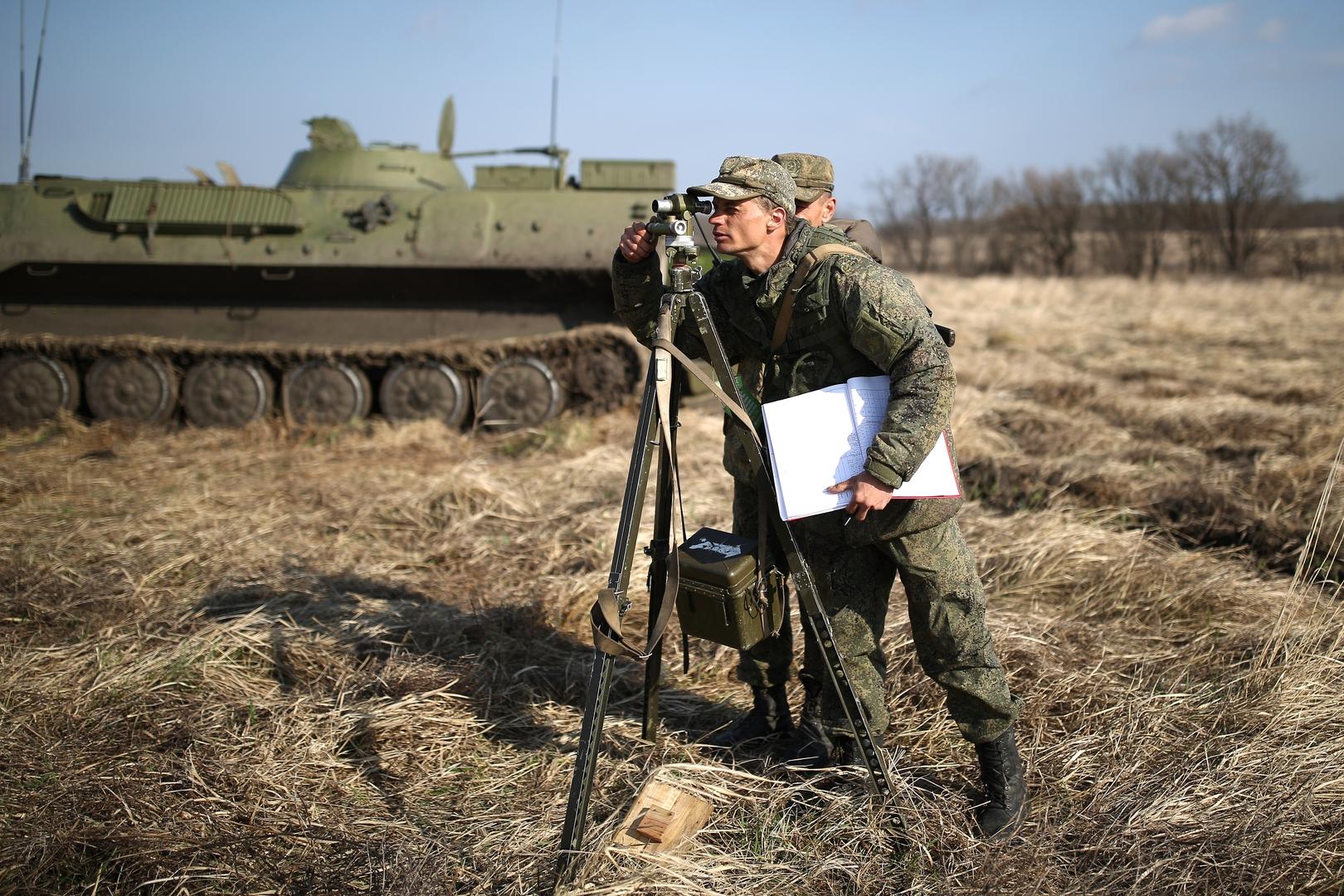 تدريبات عسكرية في مقاطعة كراسنودار بجنوب روسيا