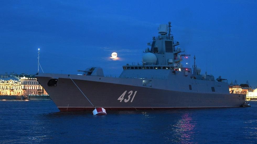 روسيا تختبر سفينة حربية مضادة للغواصات