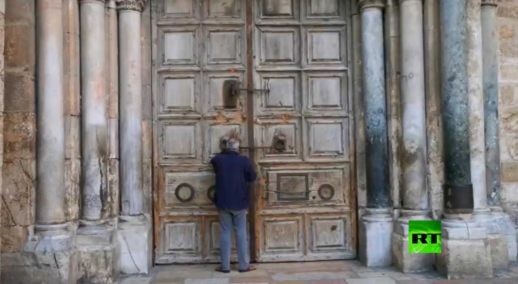 بعد المسجد الأقصىكنيسة القيامة تغلق أبوابها