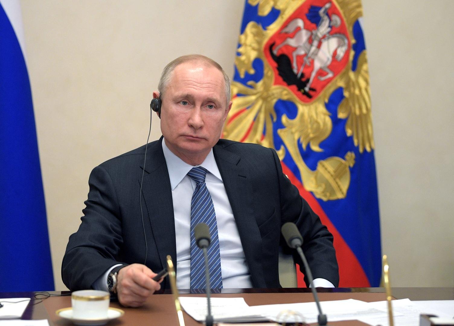بوتين يقترح على G20 سلسلة إجراءات لوقف تفشي كورونا وتجاوز عواقبه