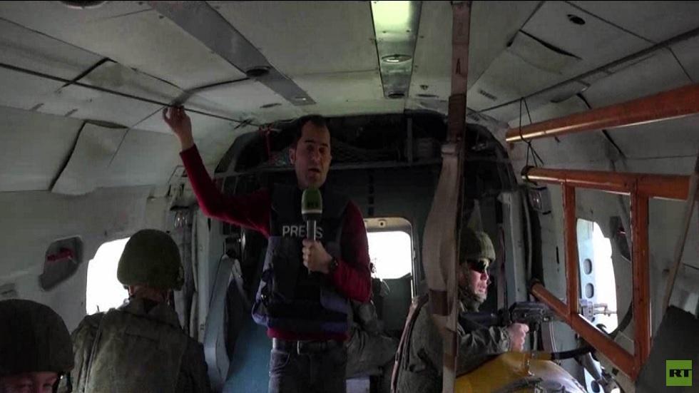 آر تي ترافق دورية جوية روسية شمال شرق سوريا