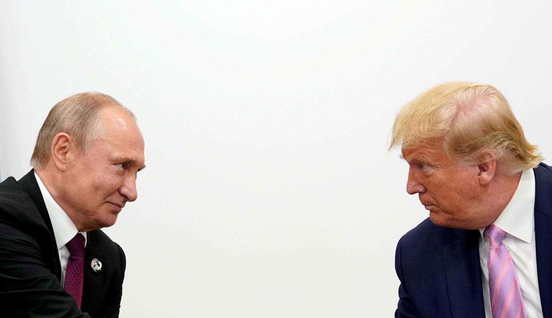 الرئيسان الأمريكي، دونالد ترامب، والروسي، فلاديمير بوتين