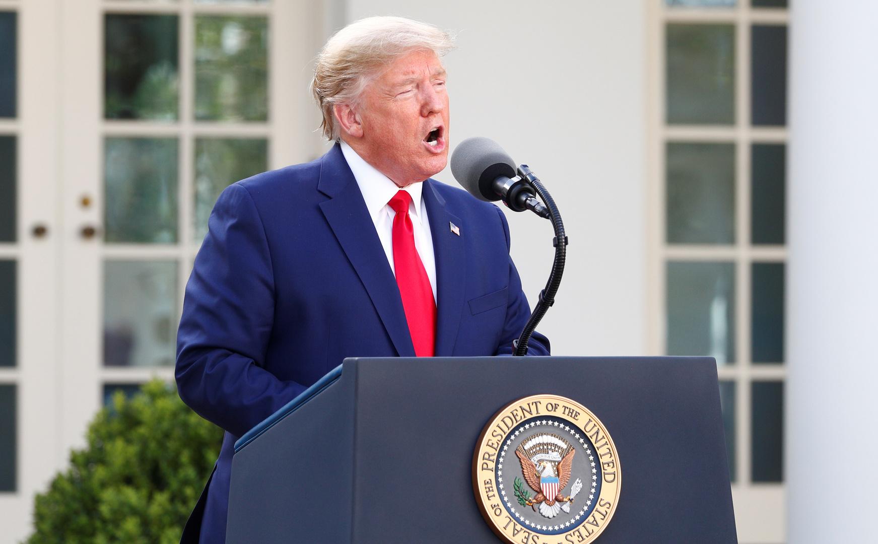ترامب: تم فحص أكثر من مليون أمريكي للكشف عن كورونا