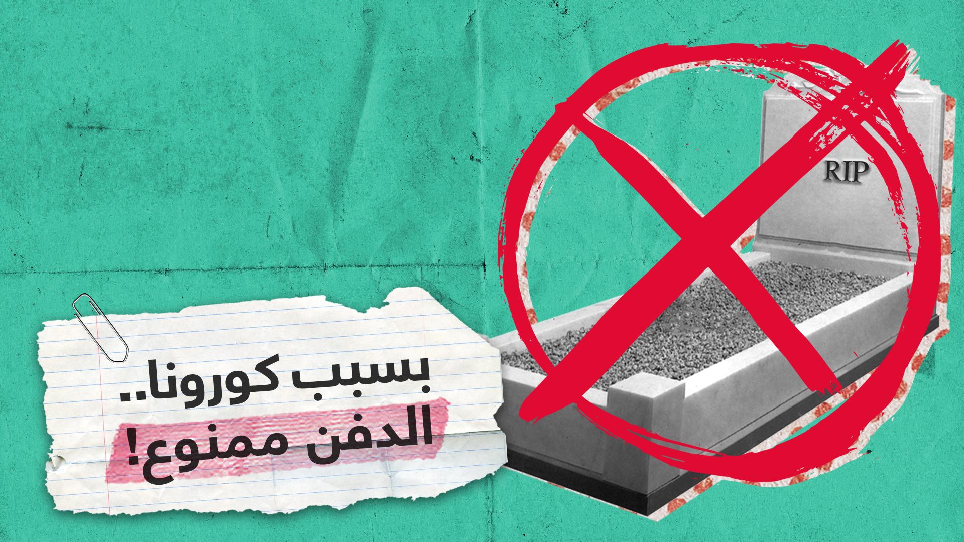 مقابر عراقية تغلق أبوابها في وجه ضحايا فيروس كورونا